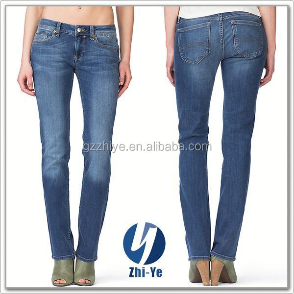 China OEM factory wholesale women tencel jeans