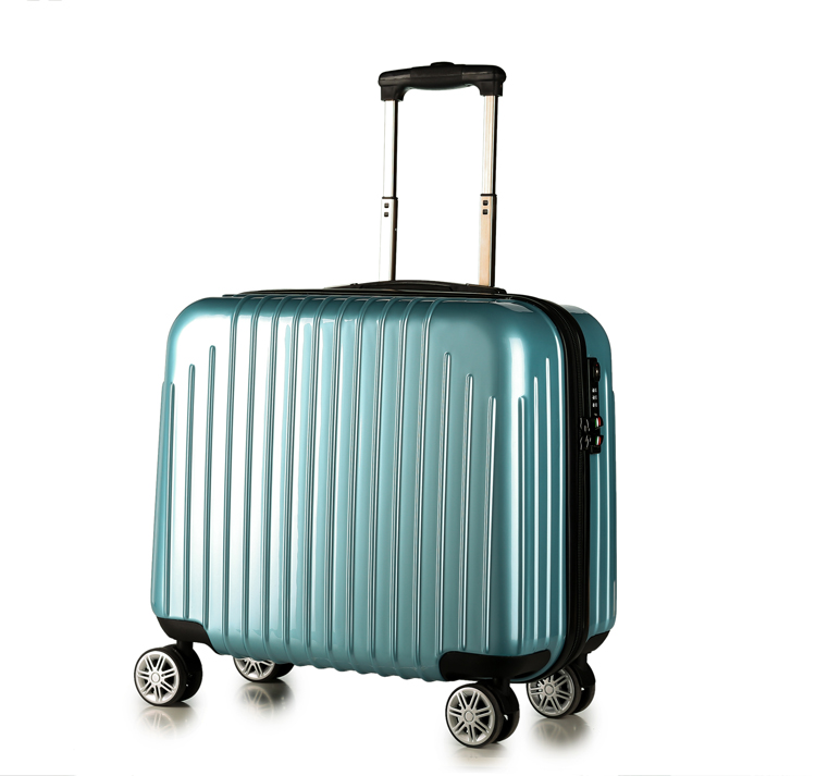 PC aluminium cabin/cosmetic/laptop trolley luggage bag with removable wheels