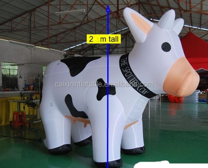customed advertising giant inflatable milk cow animla for sale