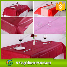 disposable dark color table runner 40gsm fabricas de telas table cloth