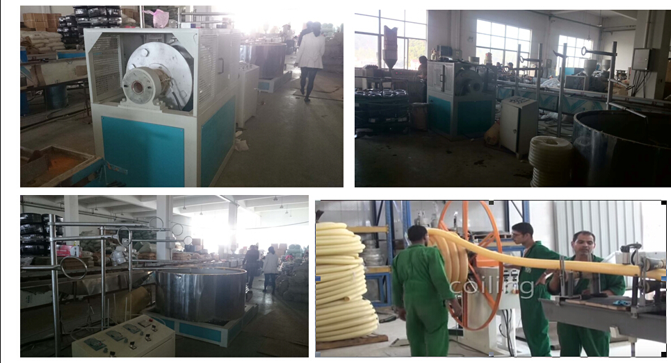 PVC suction pipes hose duct machinery plastic hose machine