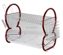 "16"" 8 shape plated Stainless Steel Dish Rack good price"