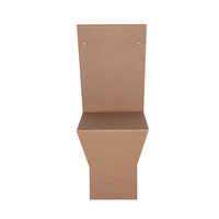 Recycling design brown corrugated cardboard folding cardboard chair