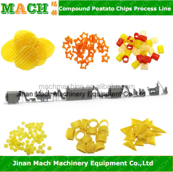 Automatic Fried Potato Pellets Snacks Processing Machines/Plant
