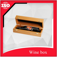 Glossy surface Bamboo wood wine box for sale