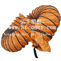 pvc coated polyester fabirc, helix steel wire, and rubber wearstrip flexible duct