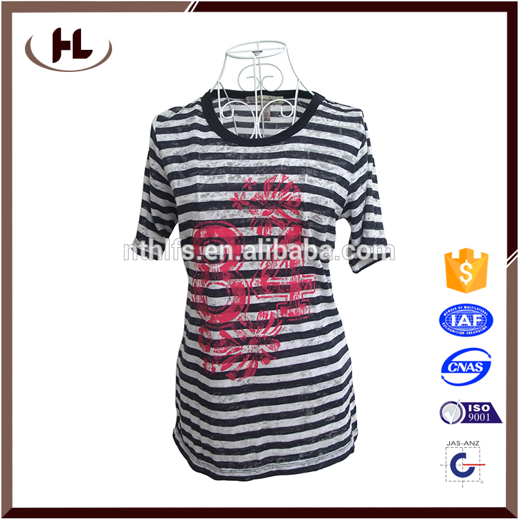 Manufacturer Supplier Latest hot sale short sleeves plus size women blouse &amp top with scoop neck