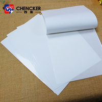 Self adhesive cast coated mirror paper sticker for daily commodity labels