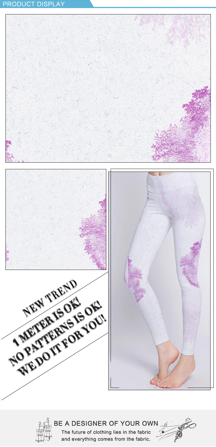 Digital fabric printing stretch fabric for yoga pant
