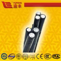 Al/XLPE 0.6/1kV overhead ABC cable HDPE insulated power cable