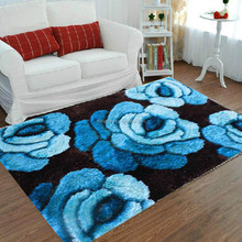 bedroom decorating 3d polyester shag rug carpet factory price