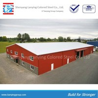 In different industry multiuse prefabricated warehouse