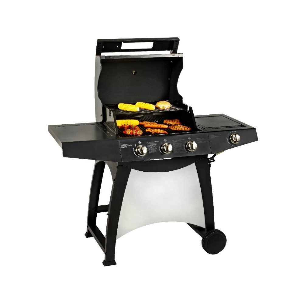 3 Burners with Side Burner Industrial Propane Gas barbecue Grill