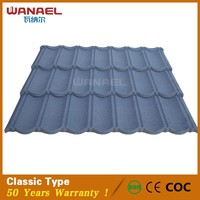 Wanael CE SON certification colorful venetian lava stone coated steel metal roofing tile