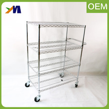 China Manufacturer Folding Storage ESD Wire Stainless Steel Mobile Trolley Cart