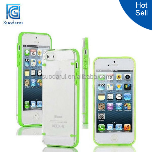 Ultra Thin Transparent Crystal Clear Hard TPU Case Cover for Apple iPhone 5 Mix color