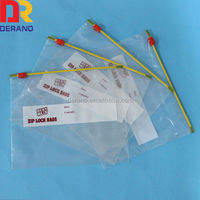 LDPE clear plastic zippered storage bag
