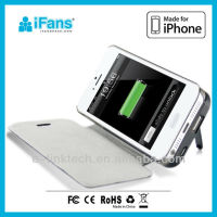 Universal external power pack for iphone 5 Rechargeable Back Up 1900mah Battery Charger Case Cover For iPhone 5