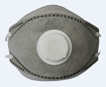 4Ply nonwoven active carbon disposable surgical folded face mask