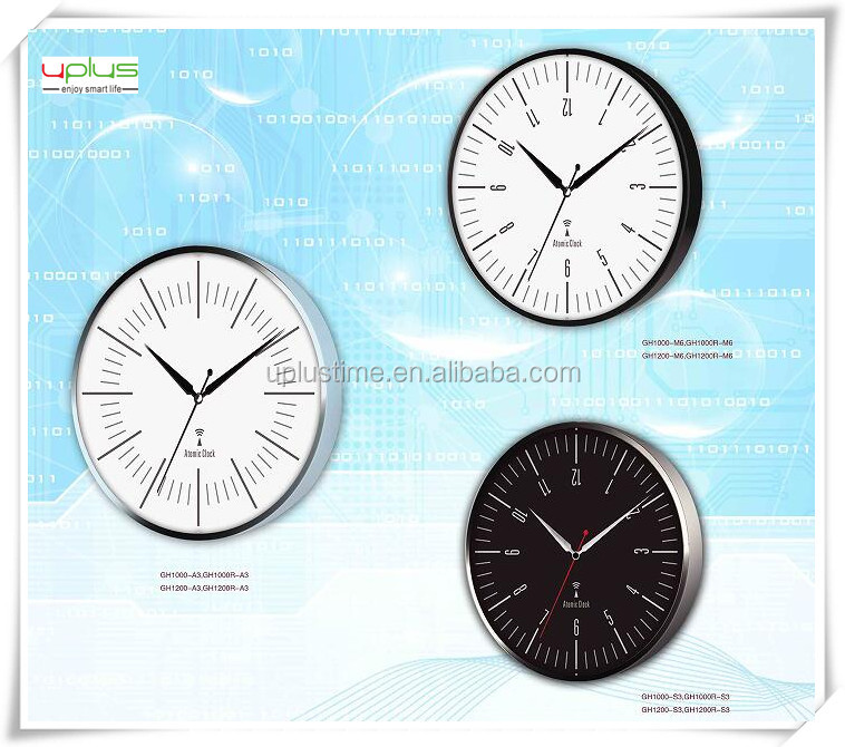 aluminum metal plate round 12 inch wall clock for home decoration