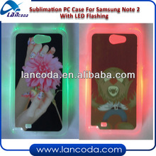 LED Sublimation Phone cover Case for Samsung Note2 N7100