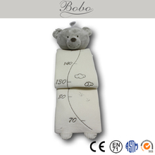 Cute Plush Toy Growth Chart with Stuffed Bear for Kids