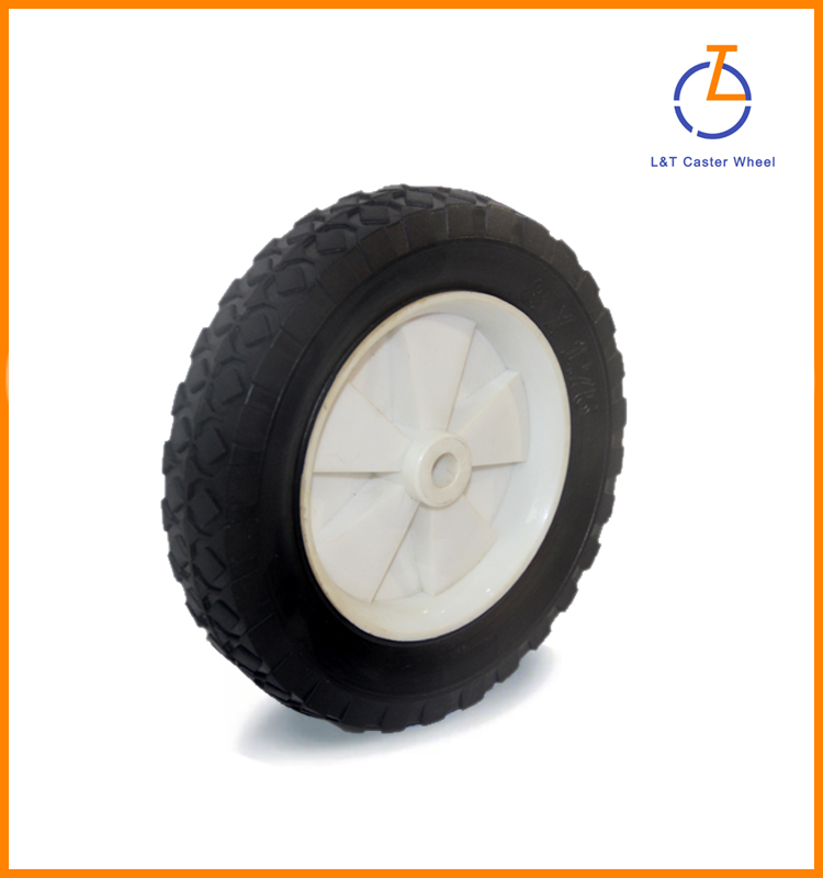 8 inch high quality rubber wheel with plastic core