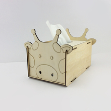 custom printed unfinished animal wooden tissue box holders