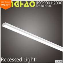 2016 New Design Samsung SMD 36W 2895lm Aluminum 8ft led tube light fixture led recessed linear light