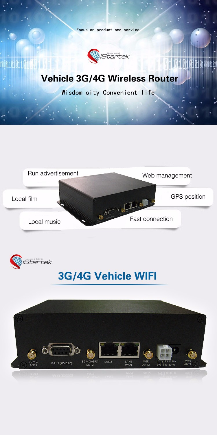 3G/4G Wireless Wifi Router industrial 4g bus wifi router with sim card slot for Vehicle wifi sharing