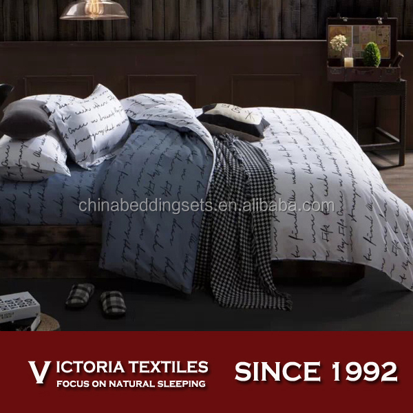 fashion pattern 100% polyester bed in a bag comforter bedding sets