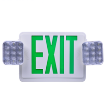 Fire Exit Sign <strong>W</strong>/Twin Heads (Green Letter) Combo Fire Exit Sign emergency exit sign battery replacement