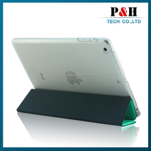 transparent color pc leather case for ipad mini