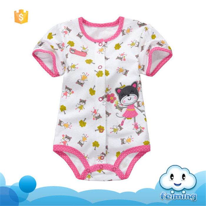 SR-230G Fancy style custom bodysuits new fashion baby clothes romper baby cotton frocks designs