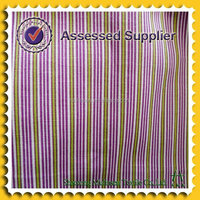 2015 Mulinsen Stretchable cotton poplin striped with white purple and green fabric