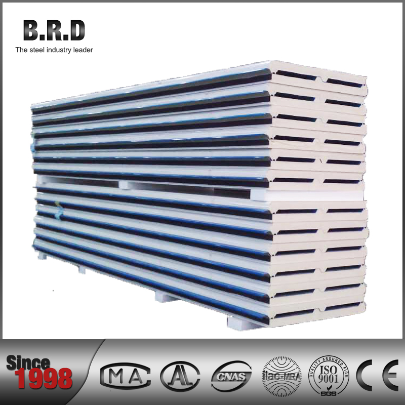 100 mm Thickness Wall Roof PU Sandwich Panel