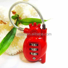 Heart password lock/Travel padlock/Luggage padlock