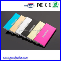 2015 New Arrival CE Fashion Portable Mobile Power Bank 4000mah,4000mah slim power bank