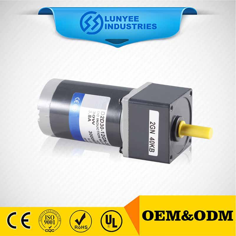 90w 12v high torque brushed dc electric motor with double shaft