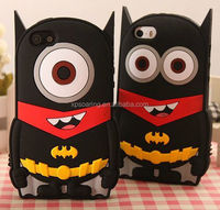 Batman Minion Silicone cover case for iphone 4G 4S, Heroman case for iphone 4