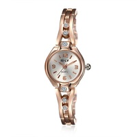 SJWHYYL0012-1 SJ China Suppliers Rose Gold Chain Watch Strap High Quality Promotional Ladies Crystal Wristwatch Quartz Watch