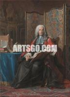 Canvas Print of Portrait Painting of the Old Master