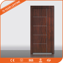 China wpc door waterproof wpc basement wood plastic composite door