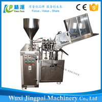 Factory direct sale KPLG-60 automatic metal tube filling and sealing machine for shoe polish,glue,ointment etc
