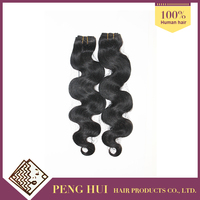 Hot selling brazilian virgin human hair body wave hair extensions