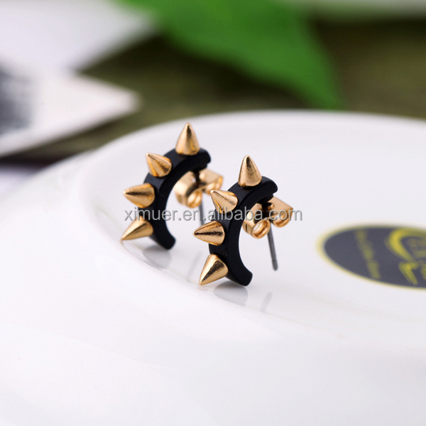 Fashion personality rivet punk stud earrings