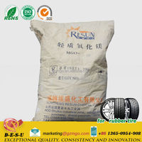 Magnesium oxide,Net 20 kg in multiwall paper bags, for Tire uses