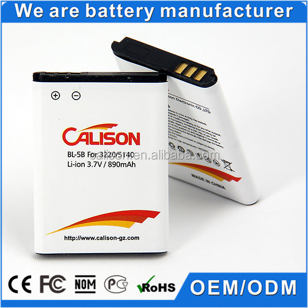 890mAh Mobile Phone Battery 6070 for Nokia