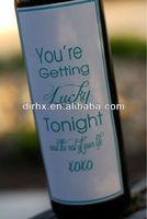 Gift Wedding Wine Bottle Label