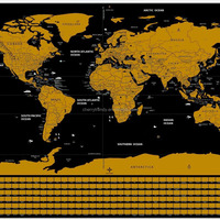 Creative Scratch Map Scratch The World